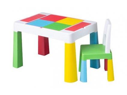 Dětský set stůl a židle MULTIFUN multicolor