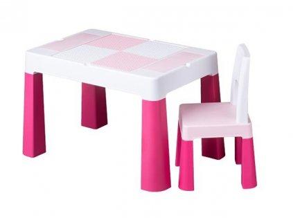 Dětský set stůl a židle MULTIFUN růžový