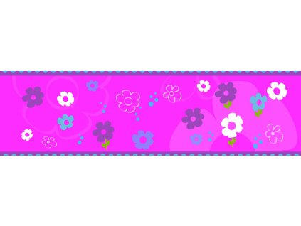 Dětská tapeta Adam 36 - růžová květiny