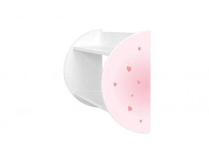 Dětská polička Adam 10 - růžový jednorožec