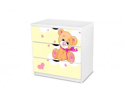 Dětská komoda Adam 6 - žlutý medvídek