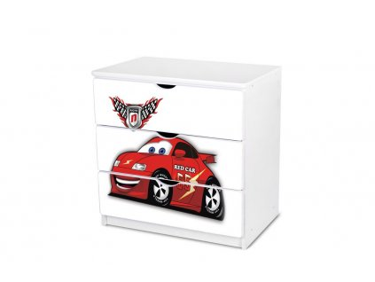 Dětská komoda Adam 23 - red car