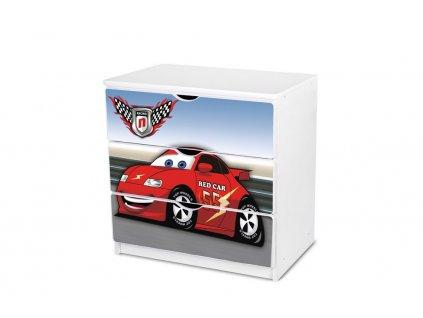 Dětská komoda Adam 25 - red car 55
