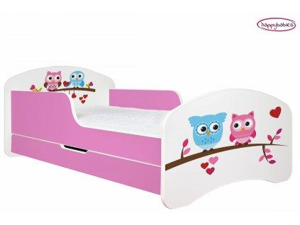 dětská postel s obrázkem sova