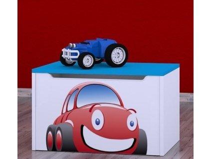 box na hračky knz červené auto (1)