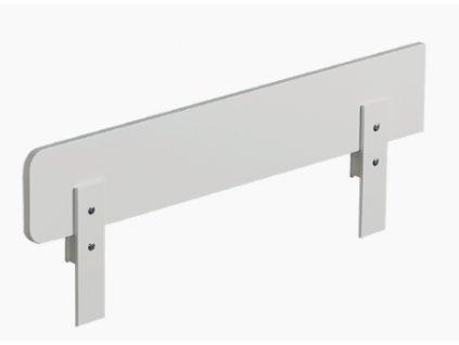 Zábra na k posteli 140 x 70 cm bílá 90 cm dlouhá