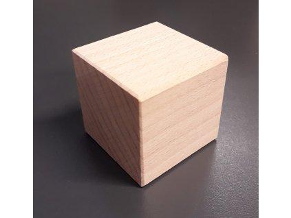 Dřevěná buková kostka krychle 5 x 5cm