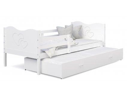 MAX P2 dětská postel s přistýlkou šedá modrá