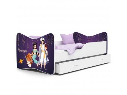 Dětská postel s obrázkem bílá 65 aladin