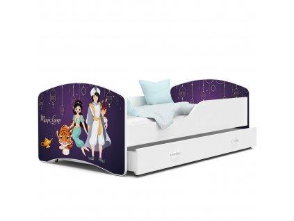 Dětská postel s obrázkem 65 aladin bílá