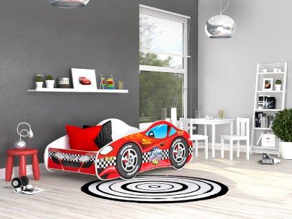 03 Dětská postel červené auto