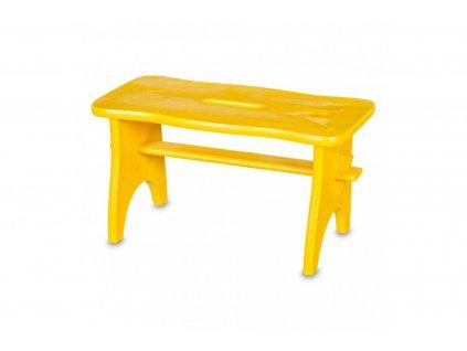 Dřevěná stolička lakovaná žlutá