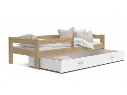 Dětská postel Hery,HUGO přírodní bílá