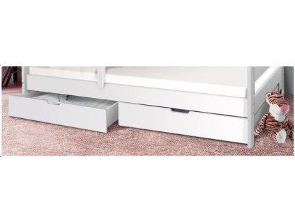 úložný prostor k patrové posteli bílý