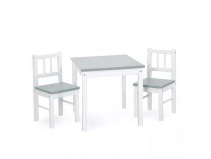 klups stůl a 2 židle