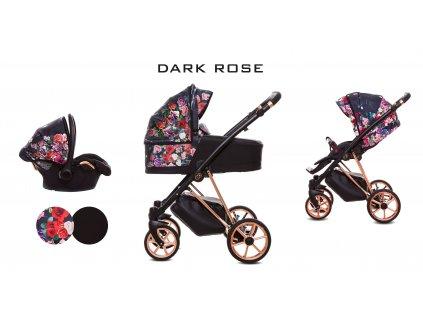 Kočárek Musse Dark Rose set