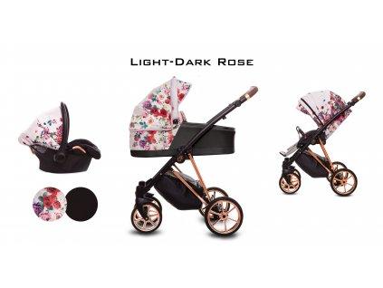 Kočárek Musse Liht Dark Rose set