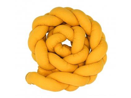 Mantinel cop mušelínový žlutý 2