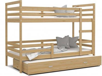 patrová postel s přistýlkou borovice (2)