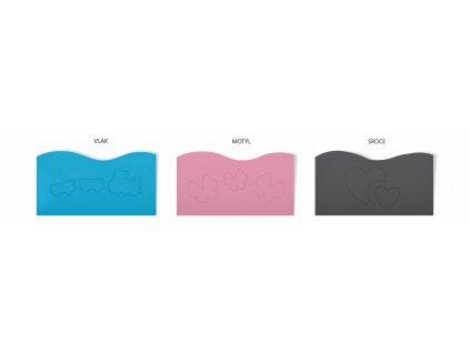 patrová postel s přistýlkou a výřezem šedá zelená (2)