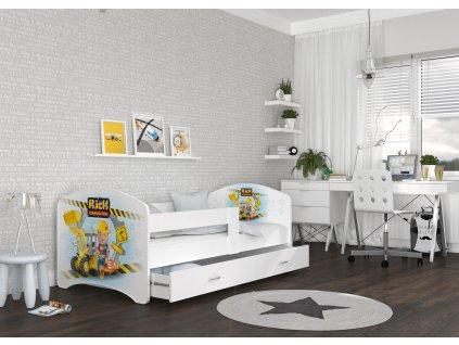 dětská postel s obrázkem nico bagr