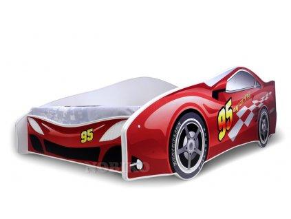 Dětská auto postel červené auto 1 180 x 80 cm + matrace zdarma