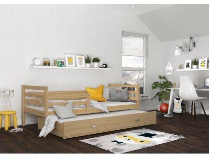 postel s přistýlkou pokoj přírodní (2)