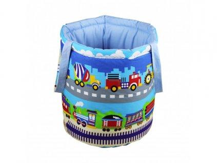 koš na hračky auta vláček cesta 12