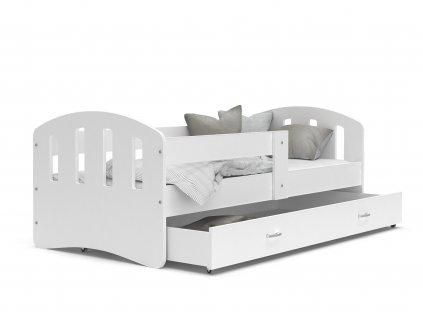 dětská postel s úložným prostorem bílá