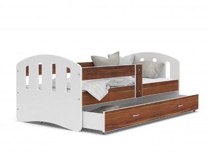 dětská postel s úložným prostorem bílá havana