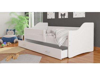 dětská postel s úložným prostorem bílá foto