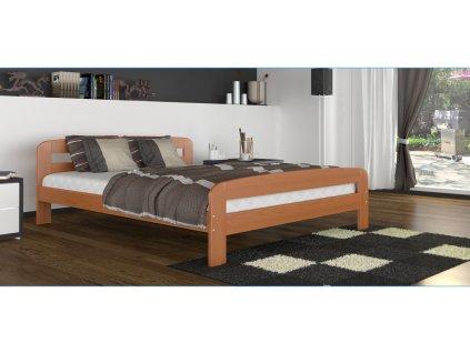 dřevěná manželská postel olše foto pokoje