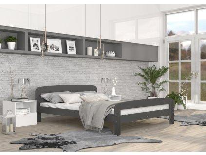 postel pro dva šedá 2