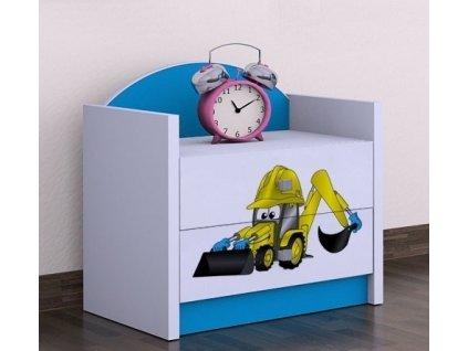 noční stolek szn01 bagr modrý
