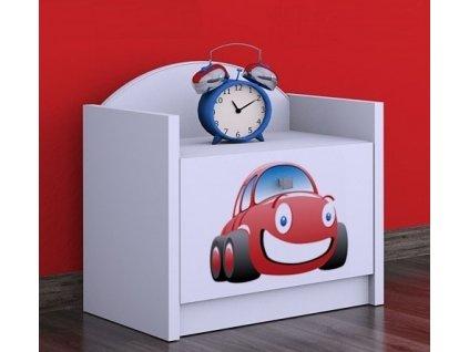 noční stolek szn02 červené auto