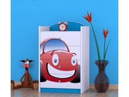 dětská komoda k04 s obrázkem červené auto (1)