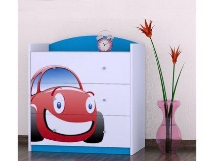 dětská komoda k05 s obrázkem červené auto (2)