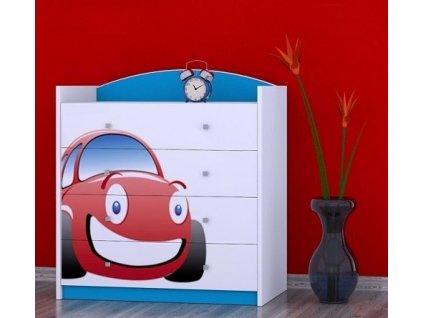 dětská komoda k06 s obrázkem červené auto (9)