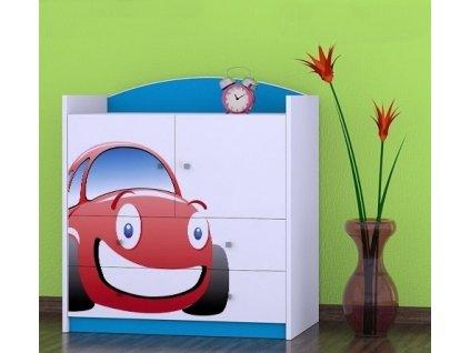 dětská komoda k07 s obrázkem červené auto (9)
