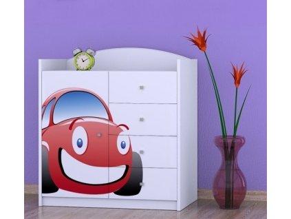 dětská komoda k07 s obrázkem červené auto (5)