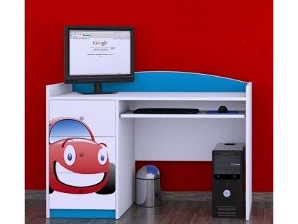 psací stůl b05 s borázkem červené auto (3)