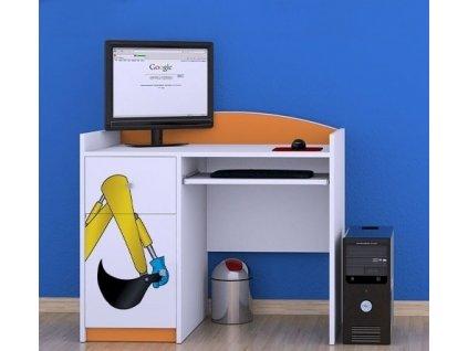 dětský psací stůl b11 s obrázkem bagr (7)