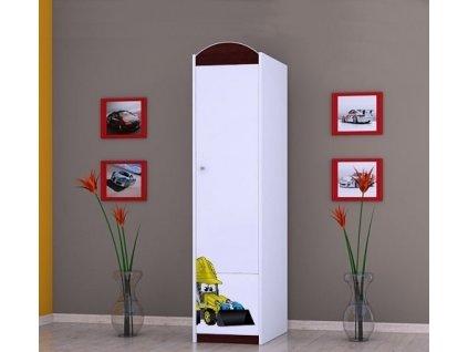 dětská šatní skříň sz02 s obrázkem bagr (1)
