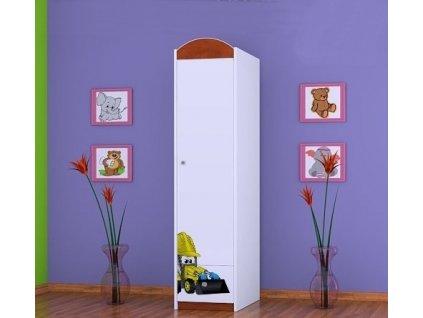 dětská skříň sz03 s obrázkem bagr (2)