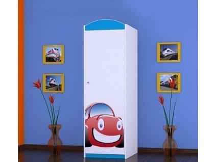dětská šatní skříň sz05 s obrázkem červené auto (2)