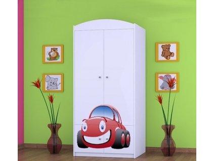 dětská šatní skříň sz07 s obrázkem červené auto (1)
