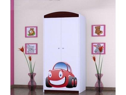 dětská šatní skříň sz0á s obrázkem červené auto (9)