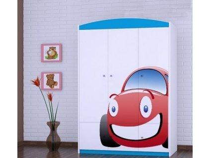 dětská šatní skříň sz10 s obrázkem červené auto (1)