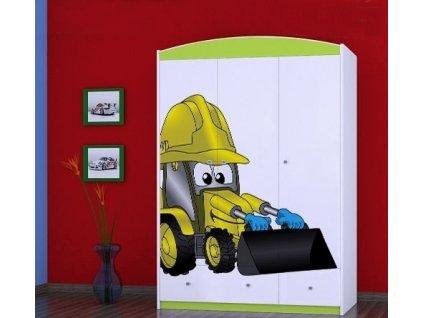 dětská šatní skříň sz11 s obrázkem bagr (7)