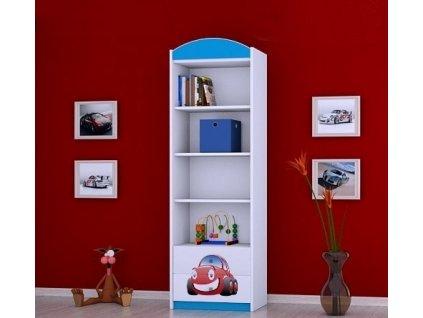 dětský regál rw06 s obrázkem červené auto (1)